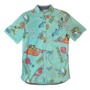 VANS limited edition BEACH Button Up Shirt Short